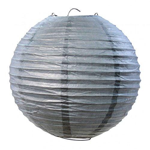 Koyal Wholesale Paper Lantern, 16-Inch, Gray