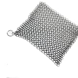 Clothful  to Half Price,Stainless Steel 316 Cast Iron Cleaner Brush Scrubber for Cast Iron Pan Cast
