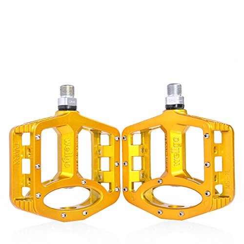Wellgo MG-1 Magnesium Sealed Platform Pedal (Gold)
