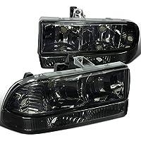 Chevy S10 Pickup Blazer Smoke Headlights+Tint Bumper Parking Lamps