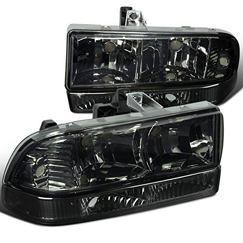 zer Smoke Headlights+Tint Bumper Parking Lamps (Chevy S10 Pickup Headlights)