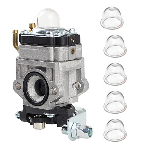 Savior 10mm Carburetor with Primer Bulb 22cc 23cc 24cc 25cc 26cc 33cc 35cc 36cc Gas Scooter 2 Stroke Carb for Trimmer Brush Cutter Petrol go Karts