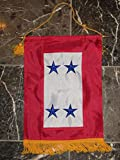 AES 12x18 Embroidered Four Star Blue Military Service 300D Nylon Flag 12''x18'' Banner