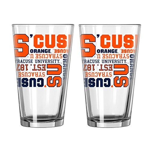 NCAA Syracuse Orange  Pint Glass, 16-ounce, 2-Pack