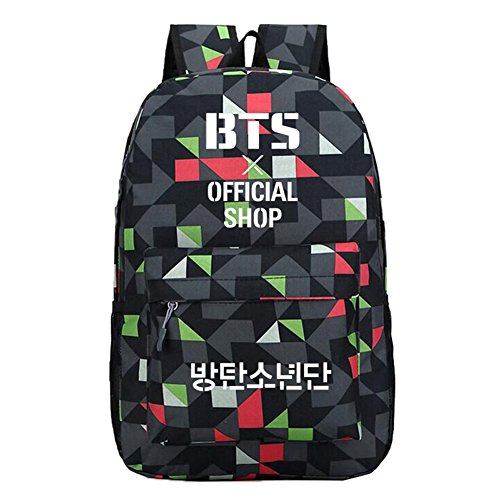 Bags Satchel Capacity Schoolbag Bangtan High Kpop Backpack Black Lightning Canvas Unisex Bts Waterproof Lattice Breathable Boys Sports 6nqwPxPRCp