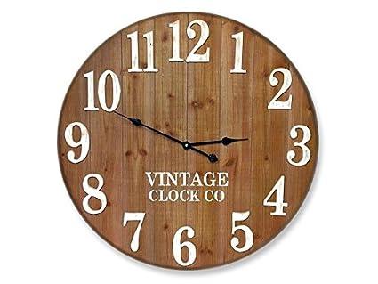 Amazon.com: LARGE RUSTIC FARMHOUSE WALL CLOCK | 30-INCH VINTAGE ...