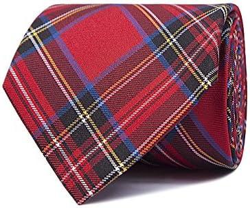 SoloGemelos - Corbata Escocesa - Azul, Rojo - Hombres - Talla ...