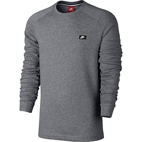 Nike Modern Crew Men's Sweat Shirt Grey Casual Regular Fashion 805126-091 (Size M)