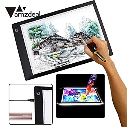 Nice Digital Tablets A4 Drawing Board Led Graphic Artist Thin Art Stencil Light Box Tracing Table Pad Us Plug Computer & Office Computer Peripherals