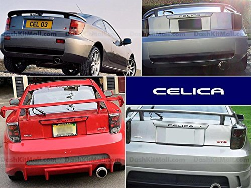 Black SFSalesUSA CELICA-LETTERS-BLK S.F Products Toyota Celica Rear Bumper Letter Insert Not Decals