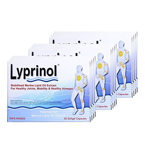 Pharma Lyprinol® Pcso-524® 200 Capsules New Zealand Green Lipped Mussel Extract Oil Joint Health Support & Mobility (Pack of 3) by Lyprinol