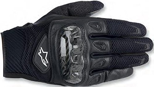Alpinestars SMX-2 AC Men's Leather Street Racing Motorcycle Gloves - Black / Large
