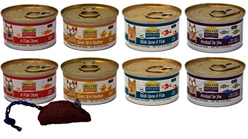 Under the Sun Witty Kitty Grain Free Kitten & Adult Cat 4 Flavor Variety 8 Can Bundle with Toy, 2 Each: A Fish Story…
