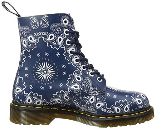 Dr. Martens Mens Pascal 8 Eye Boot Navy, Bianco