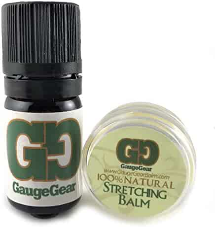 Gauge Gear Mini Balm & Blend Aftercare Set - 0.15oz Ear Stretching Balm | 5mL Daily Skin Conditioning Oil