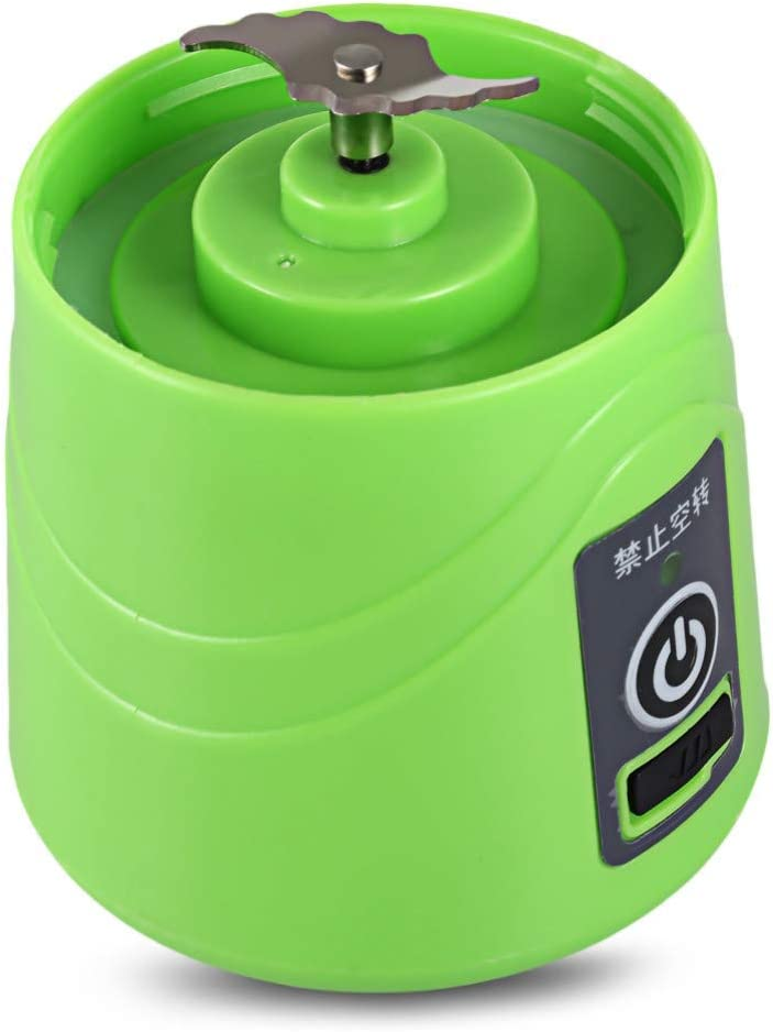 N/ A Multifonctionnel Portable Juicer Blender Extractor Machine USB Charge Ménage 380Ml pour Smoothies et Shakes Green