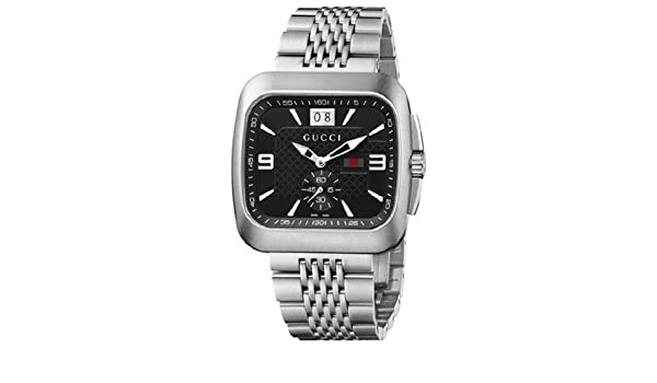 8a2fd1646c8 Mens Watch Gucci YA131305 G-Coupe Stainless Steel G-Coupe Quartz Black Dial  Link  Amazon.ca  Watches