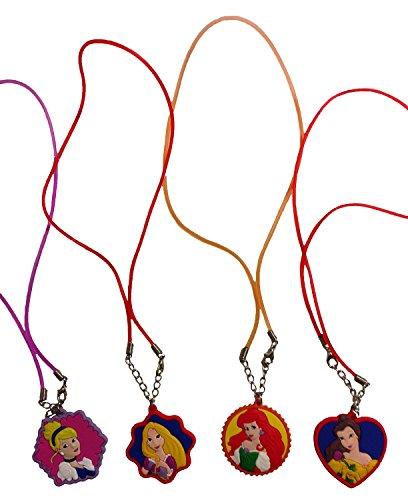 Disney Princess Necklaces 4 Pcs Set #1 (Princess Necklaces)