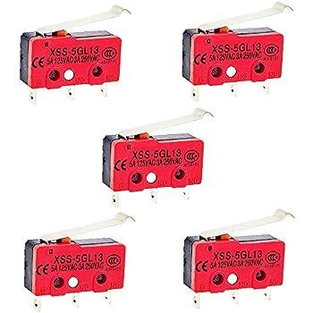 OdiySurveil (TM) 5PCS Simulated Roller Lever SPDT AC Miniature Micro Switch