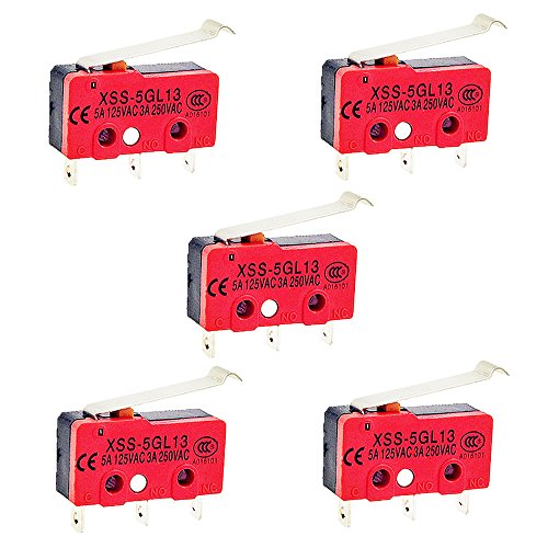 OdiySurveil (TM) 5PCS Simulated Roller Lever SPDT AC Miniature Micro (Limit Switch Body)