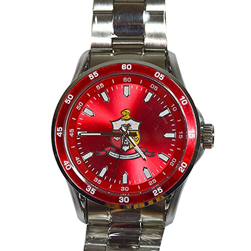 Alpha Silver Watch - Desert Cactus Kappa Alpha Psi Crest Silver Color Metal Fraternity Watch Greek Wrist Watch Nupe