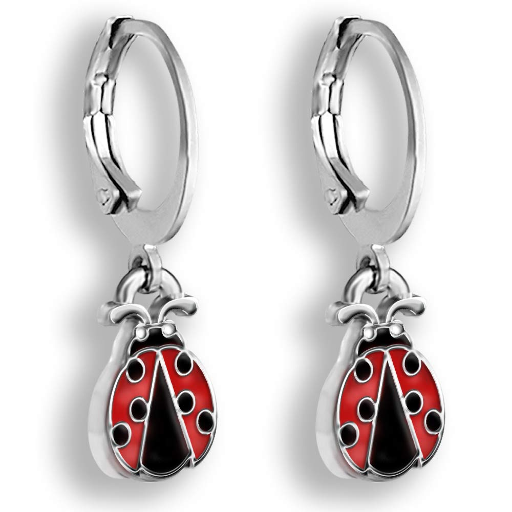 c526a4117 Ladybug Earrings For Women And Girls Hoop Earrings Set Ladybug Jewelry -  Teen Jewelry For Girls And Tweens Ladybug Gifts for Women Small Earrings  For Women ...