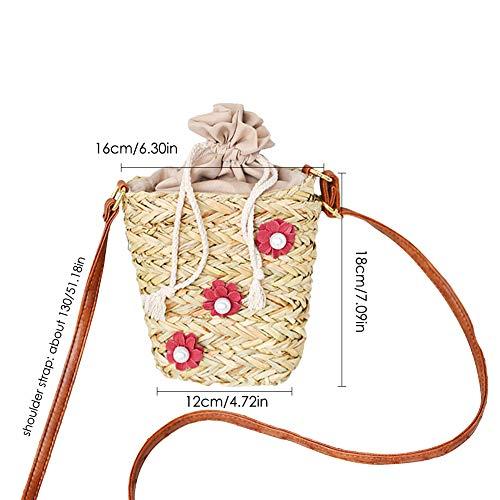 rattan viaggi in miele a per in borsa intrecciata e da donne mano regalo spiaggia shopping borsa paglia a fatta di a luna Borsa ragazze spalla mano Eq8SwRwA