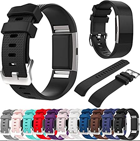 MyFitBands Strap for Fitbit Charge 2 Replacement Sports Band Metal Clasp