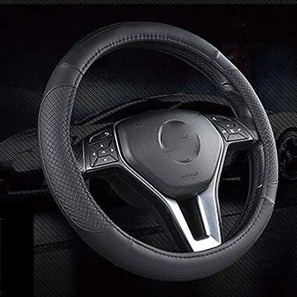 Farbe : Blau, gr/ö/ße : 36cm SHX fxp Leder Universal Auto Lenkradbezug Durchmesser 36-50 cm Atmungsaktiv Komfort Haltbarkeit Sicherheit Anti-Rutsch
