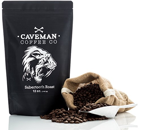 Caveman Coffee Sabertooth, Dark Roast Coffee, Single for sale  Delivered anywhere in USA