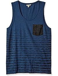 Jeans Men's Denim Pocket Stripe Tank Top