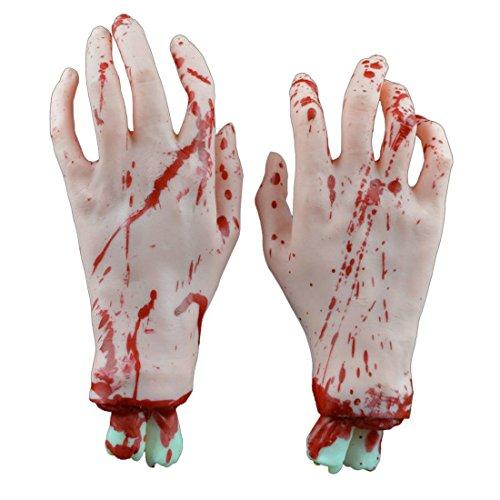 MISHIN Bloody Fake Severed Hands Feet Scary Halloween