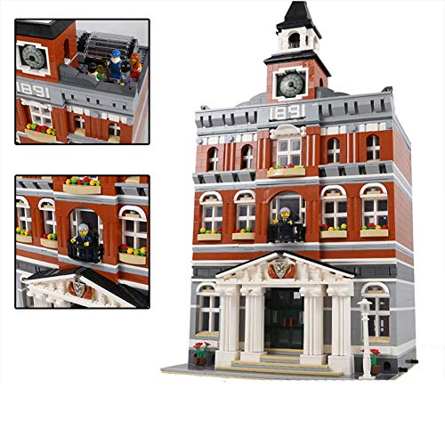 Aiya New 2859Pcs Creators The Town Hall Model Building Kits Blocks Kid Toy Compatible Brick for Children Toy Model Gift
