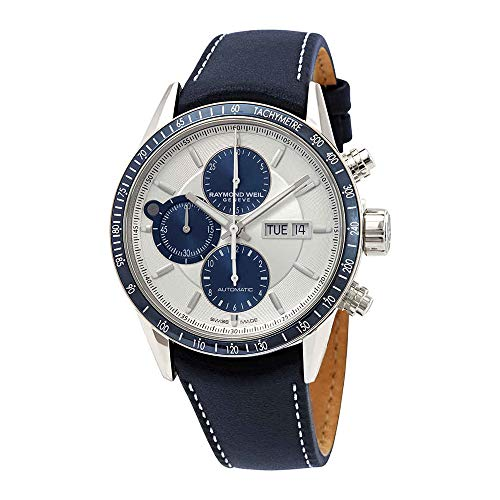 - Raymond Weil Freelancer Chronograph Automatic Silver Dial Mens Watch 7731-SC3-65521