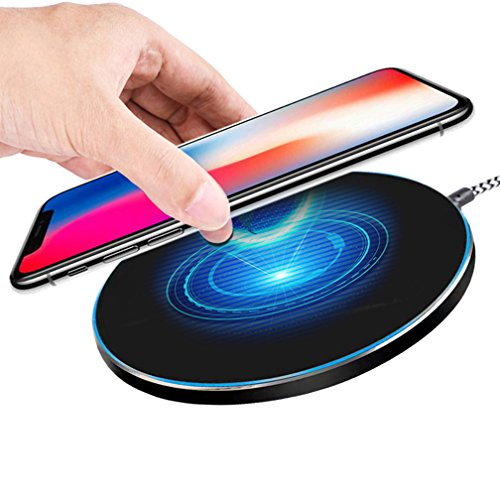 Wireless Charger, BlueSN Qi Fast Wireless Charger Pad for Samsung Galaxy Note 8/5 S8/S8 Plus S8+ S7/S7 Edge, Standard Charge for iPhone X 8 8 Plus