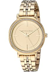 Michael Kors Womens Quartz Stainless Steel Casual Watch, Color:Gold-Toned (Model: MK3681)