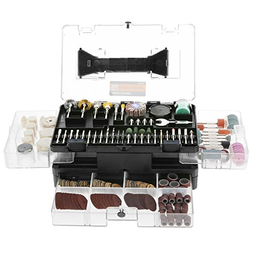 - Rotary Tool Accessories Kit, Meterk 349pcs Grinding Polishing Drilling Kits, 1/8