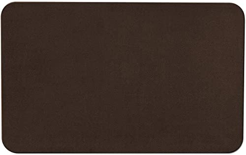 House, Home and More Skid-Resistant Carpet Indoor Area Rug Floor Mat – Chocolate Brown – 2 Feet X 3 Feet