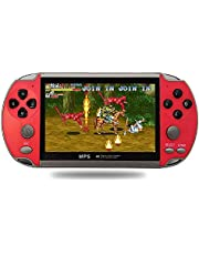4.3 Inch Game Console Handheld Dual Joystick Controller 8GB 6000 Games Spupport AV Output Video Game Machine red