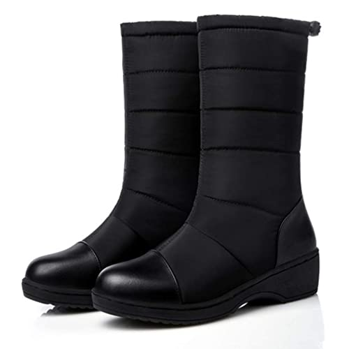 849fe33a975 Image Unavailable. Image not available for. Color  GIY Women s Waterproof  Winter Snow Boots Mid Calf ...