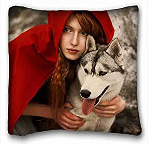 Soft Pillow Case Cover Animal Custom Zippered Pillow Case 16x16 inches(one sides) from Surprise you suitable for California King-bed