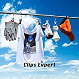 12PCS Laundry Hanging Hooks with Clips Boot Hanger