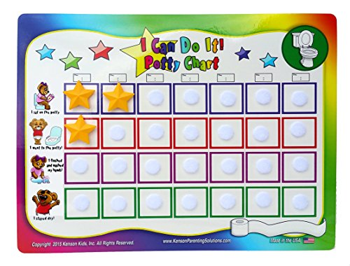 """(Kenson Kids """"I Can Do It!"""" Potty Chart Updated Toilet Training System! Includes Colorful Magnetic Chart, 30 Positive-Reinforcement Stars, Potty Training Book, Achievement Certificate, and Training Tips for Parents)"""