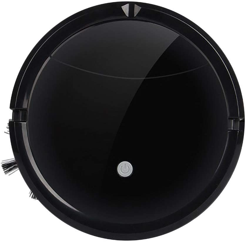 Fan-Ling Smart Robot Vacuum Cleaner Auto Floor Cleaning Toy Sweeping Sweeper,Robot Vacuum Cleaner with Floor Wash Function Powerful Cleaning System (Black)
