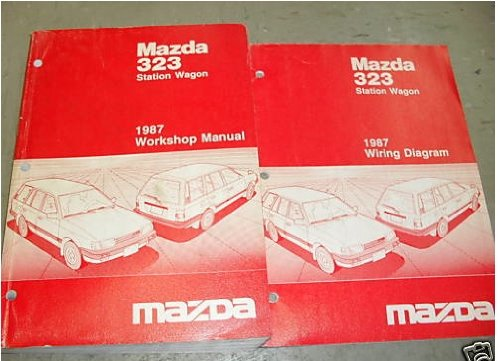 1987 Mazda 323 Station Wagon Service manual Set Oem (service manual, and the electrical wiring diagrams manual..)