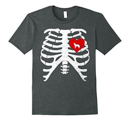 Mens Halloween Skeleton Costume T-Shirt AUSTRALIAN RED HEELER 3XL Dark (Australian Costume For Men)