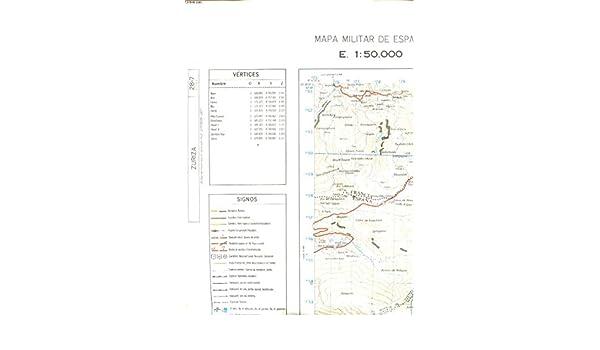 MAPA MILITAR DE ESPANA E. 1:50.000 ZURIZA 28.7: Amazon.es: COLLECTIF: Libros