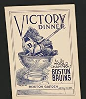 Scarce! 1939 Boston Bruins Victory Dinner Program, Signed by Lionel Hitchman - Autographed NHL Magazines