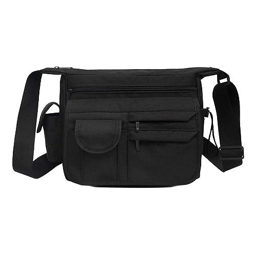 ca06d217fa5c Fabuxry Women Canvas Shoulder Bags Flap Zipper Handbags Cross Body ...
