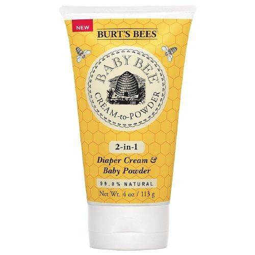 Bee Cream-To-Powder 4 oz (113 g) by Burt's Bees Baby (Pack of 4) by Burt's Bees